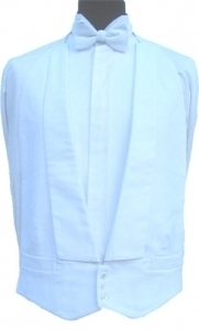 100% Cotton White Marcella Waistcoats