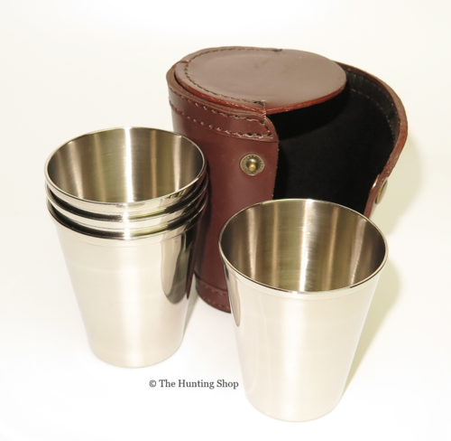 Stirrup Cups in Leather Case