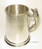 English Pewter Fox Handled Tankards