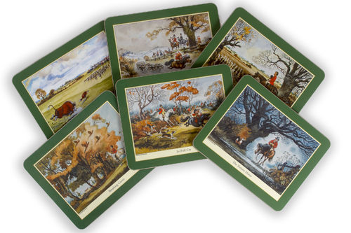 Set of 6 Thelwell Hunting Tablemats