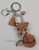 Gorgeous Rhinestone Encrusted Foxy Keyrings
