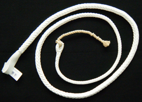 Hunt Staff, White Leather Whip Thongs