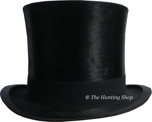 55cm Vintage Dunn & Co, Black Silk Top Hat