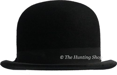 52cm Lock & Co, Black Stiffened Bowler