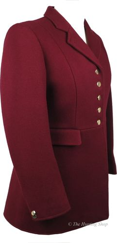 **The 'Lady Gregory' Hunt Coat in Burgundy