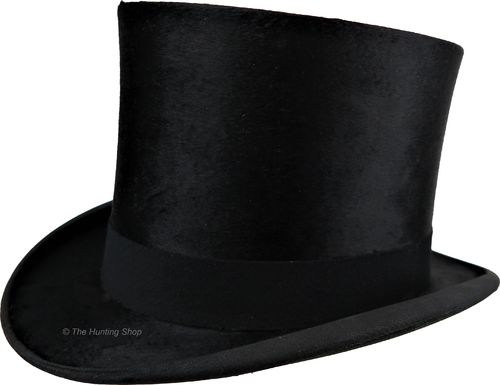 55cm Lincoln Bennet Silk Black Top Hat