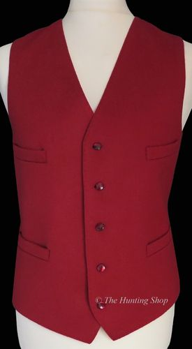 "Gents 42"" Dark Red Doeskin Waistcoat"