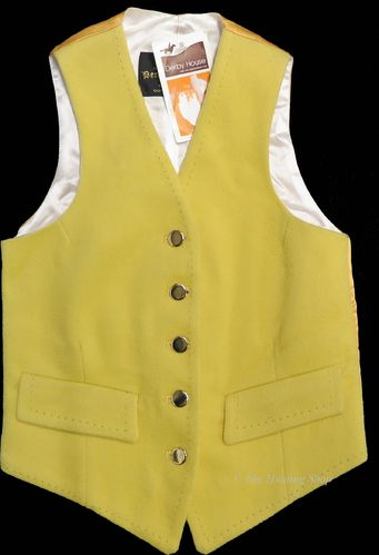 "Childs 24"" Gold Doeskin Waistcoat"