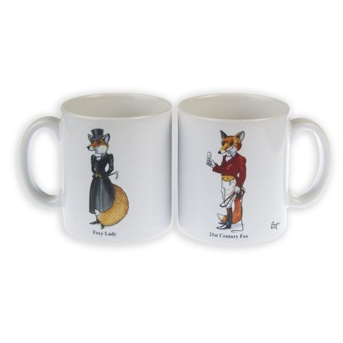 Mr & Mrs Fox, Ceramic Mugs