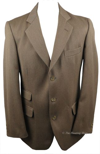 "Gents 40"" Brown Covert Tweed Hacking Jacket"