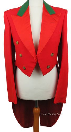 "Gents 34"" Scarlet Evening Tail Coat"
