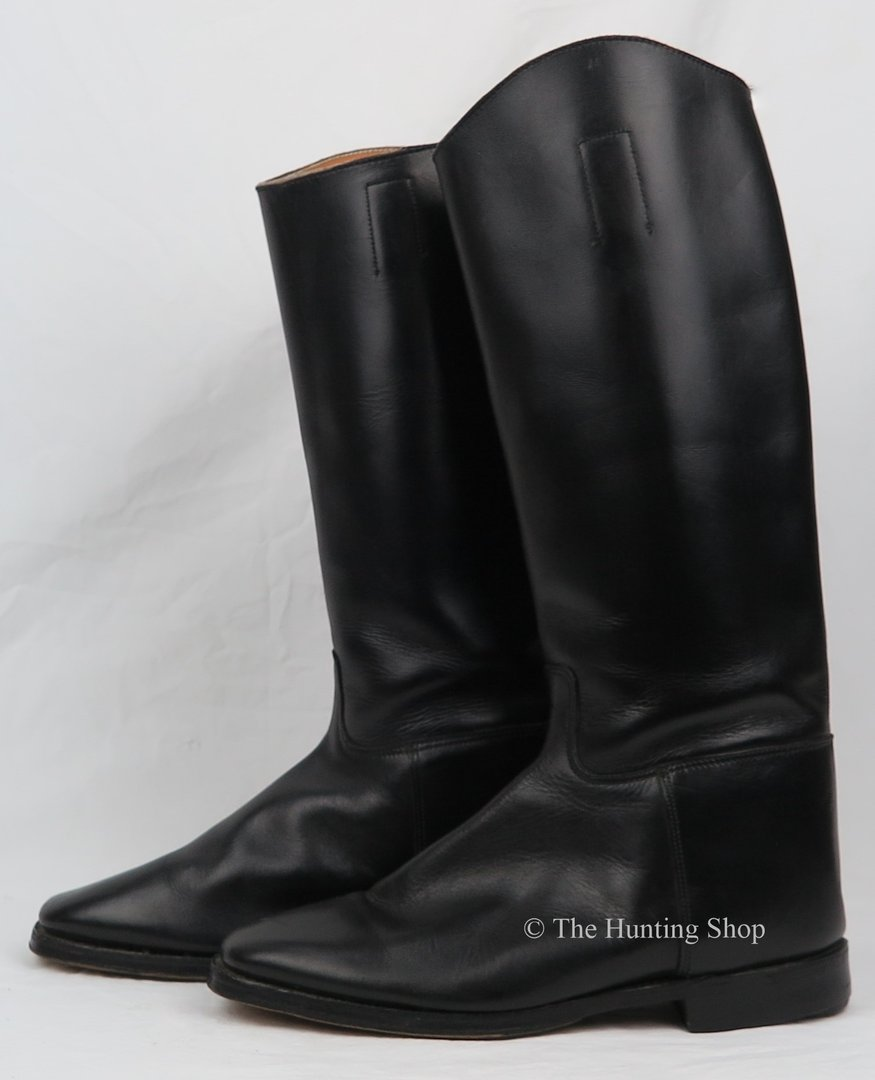 Size 8 Hawkins, Long Black Leather Boots