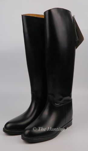 Size 5, Aigle New Black Rubber Boots
