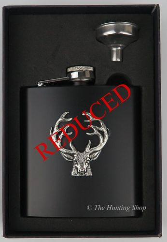 Stainless Steel Boxed Stag Flask