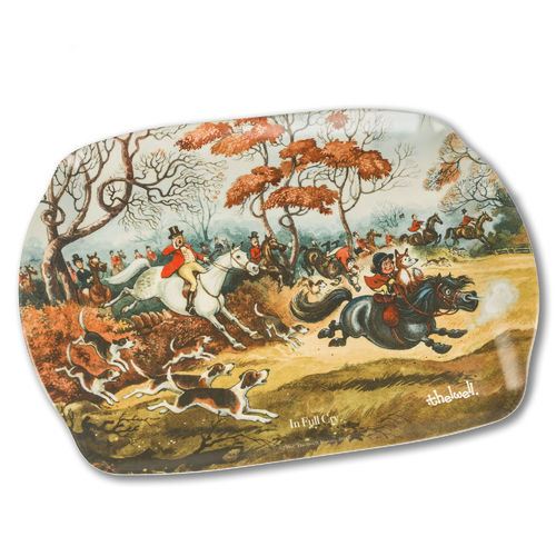 'In Full Cry' Thelwell Tray